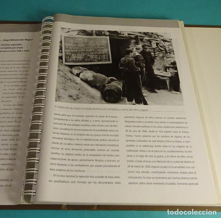 Sellos: LA GUERRA CIVIL ESPAÑOLA EN 70 HOJAS BLOQUE. REPRODUCCIÓN AUTORIZADA POR CORREOS. FALTA LA HB Nº 18 - Foto 3 - 152384774