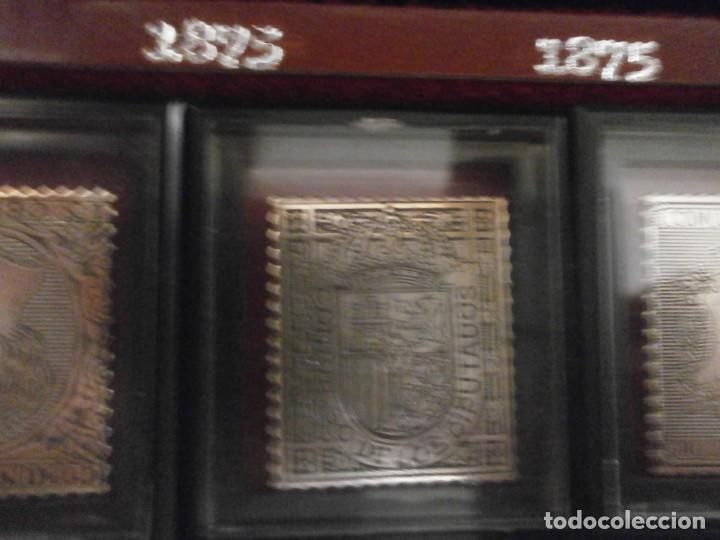 Sellos: ESTUCHE PRIMEROS SELLOS DE LA FILATELIA ESPAÑOLA Plata 999 6.50 gr cada sello Seli-D Or 18 SELLOS - Foto 6 - 215398265