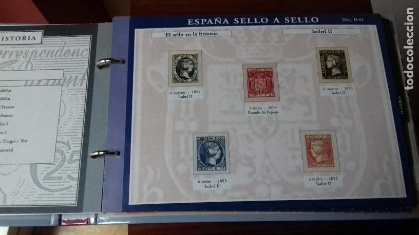 Sellos: ESPAÑA SELLO A SELLO. COLECCIÓN EDITADA POR EL PAÍS Y BBVA. ESPAÑA 2003. COMPLETA CON 330 SELLOS - Foto 2 - 164841314