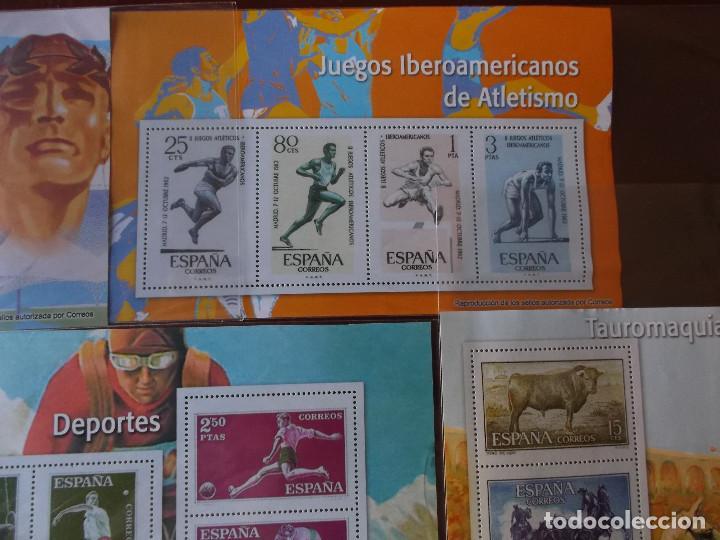 Sellos: conjunto de hojas de sellos facsimil en muy buen estado - Foto 3 - 165282218