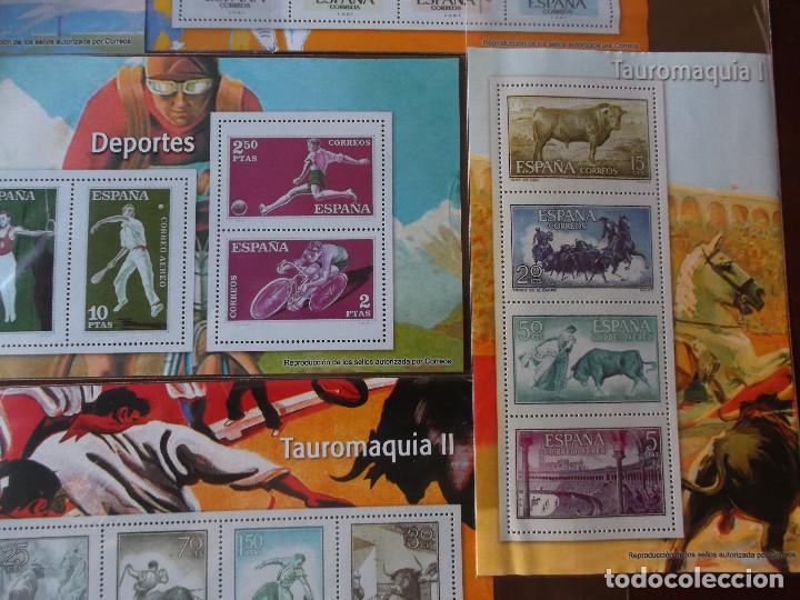 Sellos: conjunto de hojas de sellos facsimil en muy buen estado - Foto 4 - 165282218