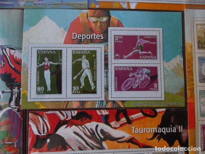 Sellos: conjunto de hojas de sellos facsimil en muy buen estado - Foto 5 - 165282218