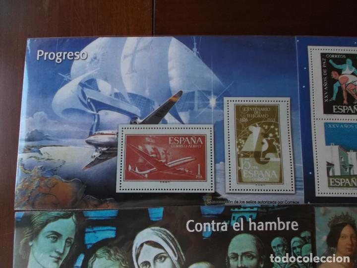 Sellos: conjunto de hojas de sellos facsimil en muy buen estado diversos temas - Foto 2 - 165282902