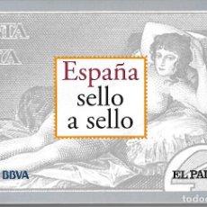 Sellos: ESPAÑA SELLO A SELLO. HISTORIA,PERSONAJES COLECCION COMPLETA 330 SELLOS DE CORREOS. EL PAIS.. Lote 169105160
