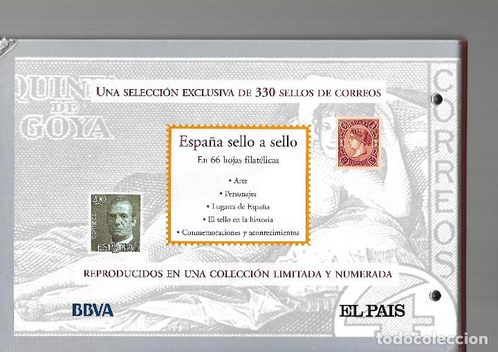 Sellos: ESPAÑA SELLO A SELLO. HISTORIA,PERSONAJES COLECCION COMPLETA 330 SELLOS DE CORREOS. EL PAIS. - Foto 2 - 169105160
