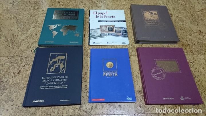 LOTE, BILLETES, SELLOS, EL FRANQUISMO EN SELLOS Y BILLETES, HISTORIA DE LA PESETA (Filatelia - Sellos - Reproducciones)