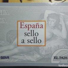 Sellos: ESPAÑA SELLO A SELLO FALTAN LAS HOJAS: H-11, H-13, H-14, P-6, L-1, L-4, A-4, C-3, RESTO PERFECTO . Lote 175971047