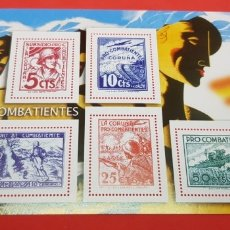 Sellos: LA GUERRA CIVIL ESPAÑOLA: NACIONAL S/F 5, 10, 25 Y 50 CÉNTIMOS. Lote 177198960