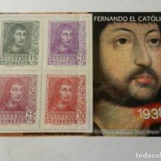 Sellos: SELLO FERNANDO EL CATÓLICO 1938 - AUTORIZADO POR CORREOS. FOURNIER VITORIA. . Lote 178570060