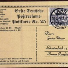 Timbres: GIROEXLIBRIS.- ALEMANIA.- TARJETA PUBLICITARIA DE M. COK DE FRANKFURT CON SELLO Y MATASELLOS FALSOS. Lote 182668833