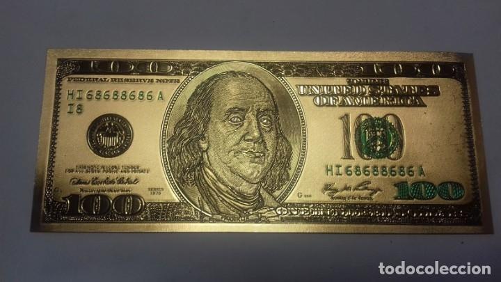 LOTE DE DE BILLETES DE 100 $ MAS REGALO DE OTRO DE 500 EUROS (Filatelia - Sellos - Reproducciones)