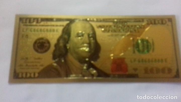 Sellos: Lote de de billetes de 100 $ mas regalo de otro de 500 Euros - Foto 3 - 183323152