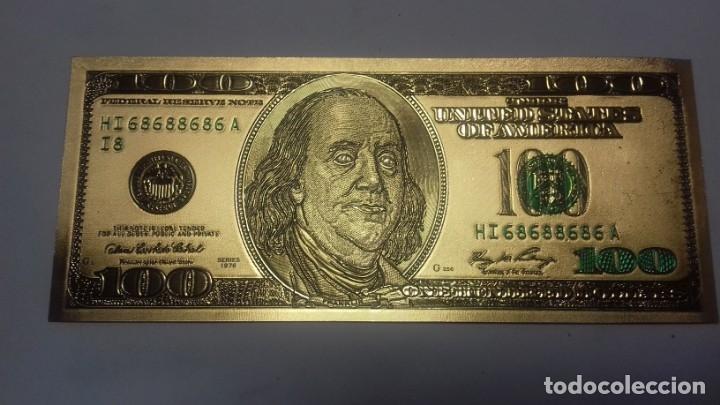 Sellos: Lote de de billetes de 100 $ mas regalo de otro de 500 Euros - Foto 5 - 183323152