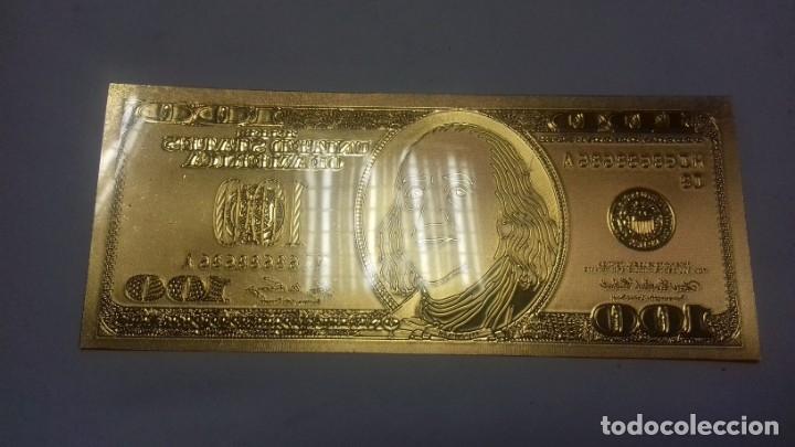 Sellos: Lote de de billetes de 100 $ mas regalo de otro de 500 Euros - Foto 7 - 183323152