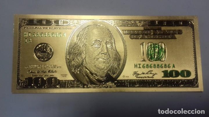 Sellos: Lote de de billetes de 100 $ mas regalo de otro de 500 Euros - Foto 9 - 183323152