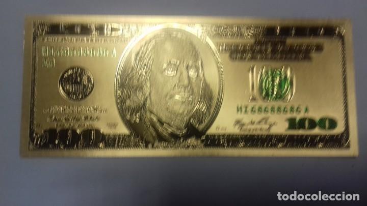 Sellos: Lote de de billetes de 100 $ mas regalo de otro de 500 Euros - Foto 10 - 183323152