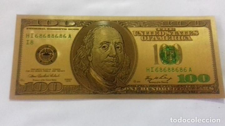 Sellos: Lote de de billetes de 100 $ mas regalo de otro de 500 Euros - Foto 16 - 183323152