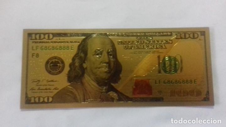 Sellos: Lote de de billetes de 100 $ mas regalo de otro de 500 Euros - Foto 21 - 183323152