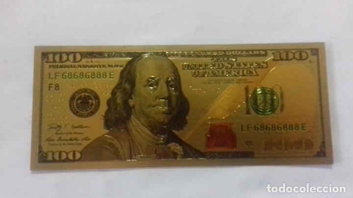 Sellos: Lote de de billetes de 100 $ mas regalo de otro de 500 Euros - Foto 22 - 183323152