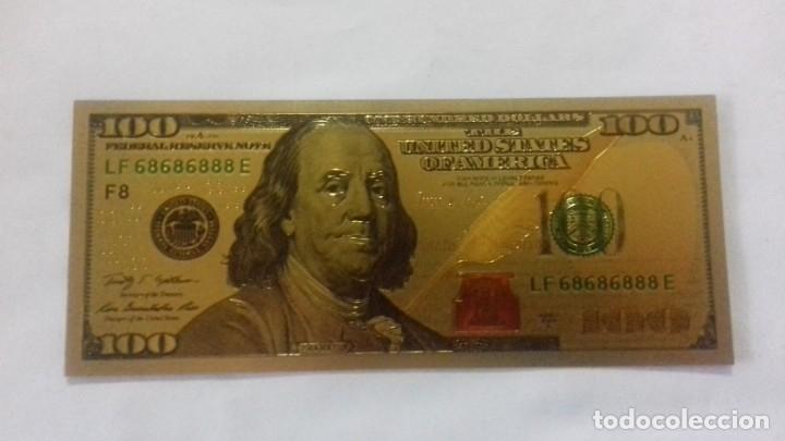 Sellos: Lote de de billetes de 100 $ mas regalo de otro de 500 Euros - Foto 23 - 183323152