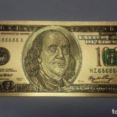 Sellos: BILLETE DE 100 $ DE ORO LAMINADO POR AMBAS CARAS IGUAL. Lote 183323625