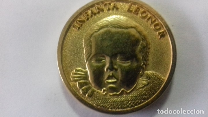 Sellos: Moneda en metal dorado del nacimiento de la Infanta Leonor - Foto 2 - 183325465