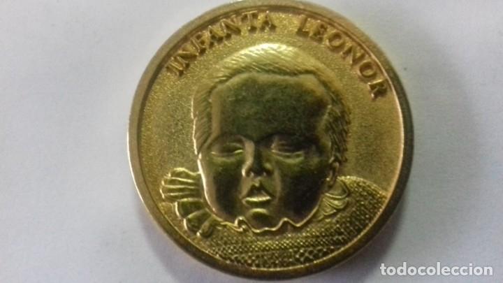 Sellos: Moneda en metal dorado del nacimiento de la Infanta Leonor - Foto 3 - 183325465