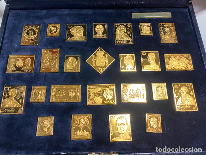 Sellos: COLECCIÓN LA CASA DE BORBÓN EN PLATA MACIZA 925 , CHAPADAS EN ORO , ED. LIMITADA , SELLOS - Foto 3 - 185785602