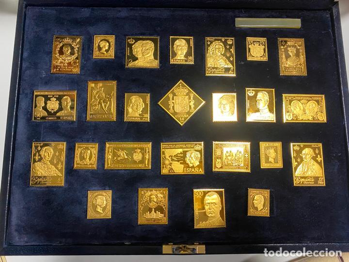 Sellos: COLECCIÓN LA CASA DE BORBÓN EN PLATA MACIZA 925 , CHAPADAS EN ORO , ED. LIMITADA , SELLOS - Foto 4 - 185785602