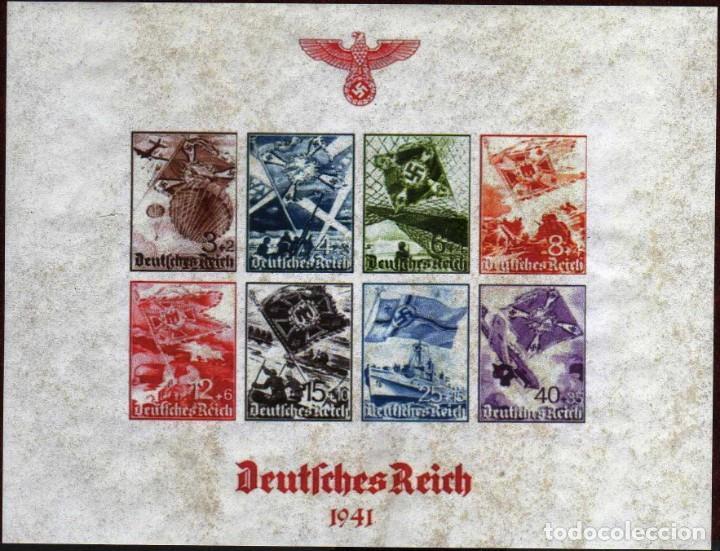 GIROEXLIBRIS.- DEUTSCHES REICH 1941 HOJA BLOQUE FANTASÍA DEL III REICH (Filatelia - Sellos - Reproducciones)