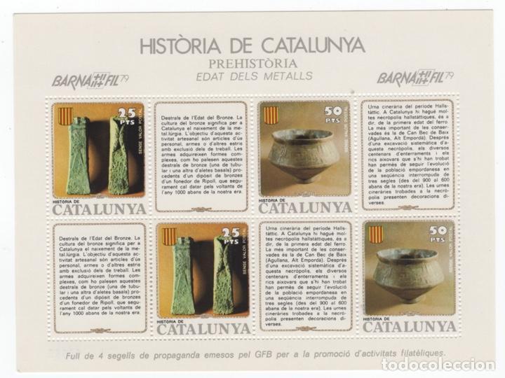 Sellos: Colección HB Historia de Catalunya 11 hojitas - Foto 2 - 189182860