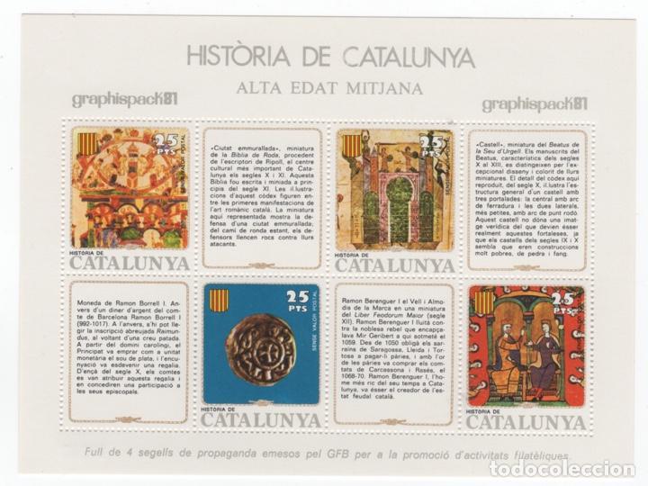 Sellos: Colección HB Historia de Catalunya 11 hojitas - Foto 11 - 189182860