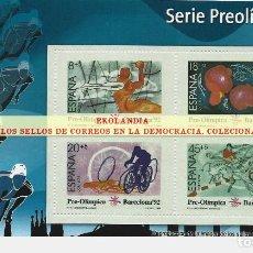 Francobolli: 69 F12 HOJITA BLOQUE ~ EKL SERIE PREOLÍMPICA DE BARCELONA 92 ( II ) . DIARIO EL MUNDO. LA DEMOCRACIA. Lote 194607795