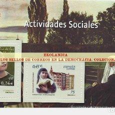 Francobolli: 120 F12 HOJITA BLOQUE ~ EKL ACTIVIDADES SOCIALES . DIARIO EL MUNDO. LA DEMOCRACIA EN SELLOS DE CORRE. Lote 194607917