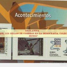 Sellos: 141 F12 HOJITA BLOQUE ~ EKL ACONTECIMIENTOS . DIARIO EL MUNDO. LA DEMOCRACIA EN SELLOS DE CORREOS. Lote 194607942