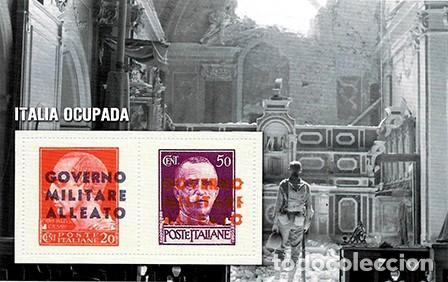 REPRODUCCION HOJA BLOQUE. ITALIA OCUPADA - EL MUNDO Nº 45- SELLO-460 (Filatelia - Sellos - Reproducciones)