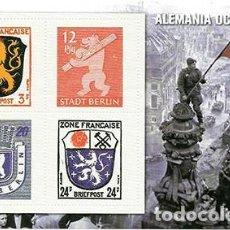 Sellos: REPRODUCCION HOJA BLOQUE. ALEMANIA OCUPADA - EL MUNDO Nº 46 - SELLO-464. Lote 194769871