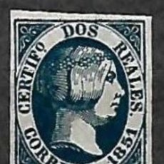 Sellos: EDIFIL Nº8* 2R AZUL REPRODUCION FALSO. Lote 195957046