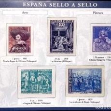 Timbres: HOJA A-1 ESPAÑA SELLO A SELLO - COLECCION EL PAIS AÑO 2003 - ARTE Y PINTURA. Lote 197766873
