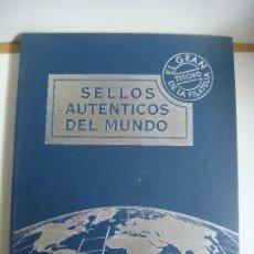 Sellos: ALBUN VACIO DE SELLOS AUTENTICOS DEL MUNDO EL GRAN TESORO DE LA FILATELIA . Lote 198845610