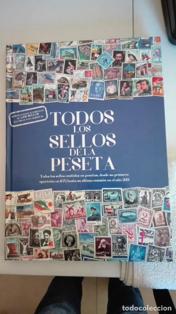 COLECCIÓN COMPLETA FACSÍMIL DE TODOS LOS SELLOS DE LA PESETA (Filatelia - Sellos - Reproducciones)