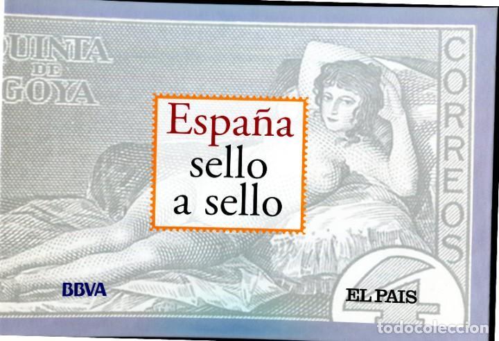 ESPAÑA SELLO A SELLO (EL PAIS) 330 REPRODUCCIONES DE SELLOS ALBUM CON 330 SELLOS DE CORREOS (Filatelia - Sellos - Reproducciones)