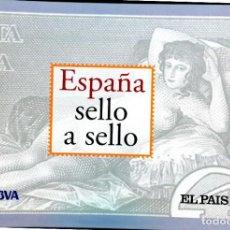 Sellos: ESPAÑA SELLO A SELLO (EL PAIS) 330 REPRODUCCIONES DE SELLOS ALBUM CON 330 SELLOS DE CORREOS. Lote 199724933