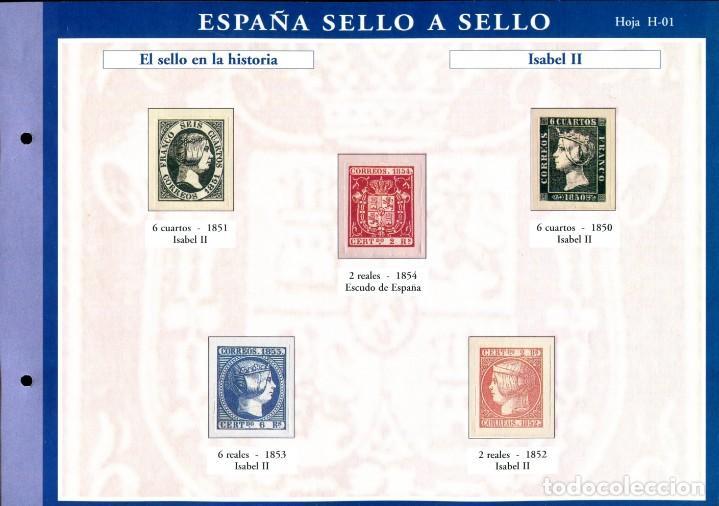 Sellos: ESPAÑA SELLO A SELLO (EL PAIS) 330 REPRODUCCIONES DE SELLOS ALBUM CON 330 SELLOS DE CORREOS - Foto 2 - 199724933