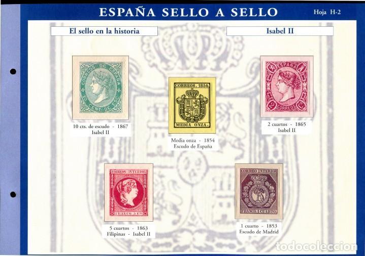 Sellos: ESPAÑA SELLO A SELLO (EL PAIS) 330 REPRODUCCIONES DE SELLOS ALBUM CON 330 SELLOS DE CORREOS - Foto 3 - 199724933