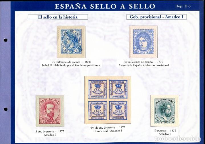 Sellos: ESPAÑA SELLO A SELLO (EL PAIS) 330 REPRODUCCIONES DE SELLOS ALBUM CON 330 SELLOS DE CORREOS - Foto 4 - 199724933