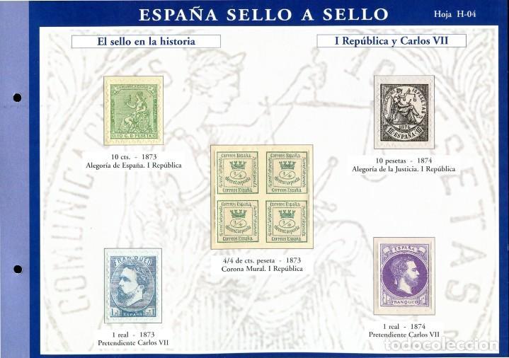 Sellos: ESPAÑA SELLO A SELLO (EL PAIS) 330 REPRODUCCIONES DE SELLOS ALBUM CON 330 SELLOS DE CORREOS - Foto 5 - 199724933