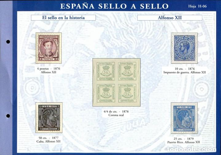 Sellos: ESPAÑA SELLO A SELLO (EL PAIS) 330 REPRODUCCIONES DE SELLOS ALBUM CON 330 SELLOS DE CORREOS - Foto 7 - 199724933