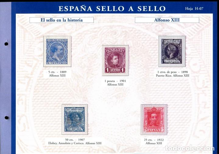 Sellos: ESPAÑA SELLO A SELLO (EL PAIS) 330 REPRODUCCIONES DE SELLOS ALBUM CON 330 SELLOS DE CORREOS - Foto 8 - 199724933