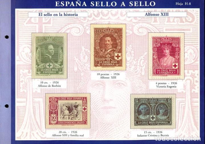 Sellos: ESPAÑA SELLO A SELLO (EL PAIS) 330 REPRODUCCIONES DE SELLOS ALBUM CON 330 SELLOS DE CORREOS - Foto 9 - 199724933